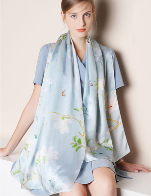Breathable Scarf Custom Silk Neck Scarf Women 100% Silk Printed High Quality Scarves